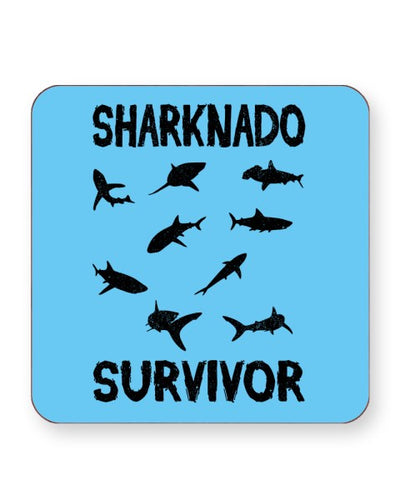 Sharknado Survivor - Barware Home Kitchen Drinks Coasters