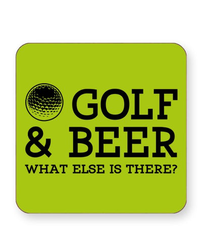 Golf and Beer What Else is There - Barware Home Kitchen Drinks Coasters