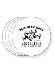 Load image into Gallery viewer, British by Birth English By The Grace of God - England - Drinks Coasters