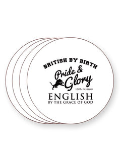British by Birth English By The Grace of God - England - Drinks Coasters