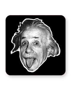 Albert Einstein Tongue - Barware Home Kitchen Drinks Coasters
