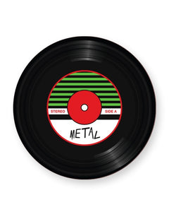 Vinyl Record Metal Music Genre - Barware Home Kitchen Drinks Coasters