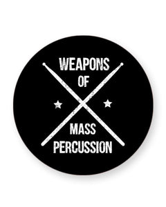 Weapons of Mass Percussion - Drummer Barware Home Kitchen Drinks Coasters