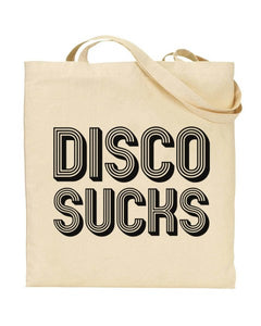 Disco Sucks Canvas Shopper Tote Bag