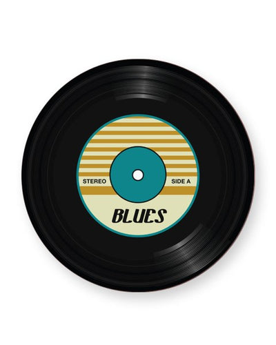 Vinyl Record Blues Music Genre - Barware Home Kitchen Drinks Coasters