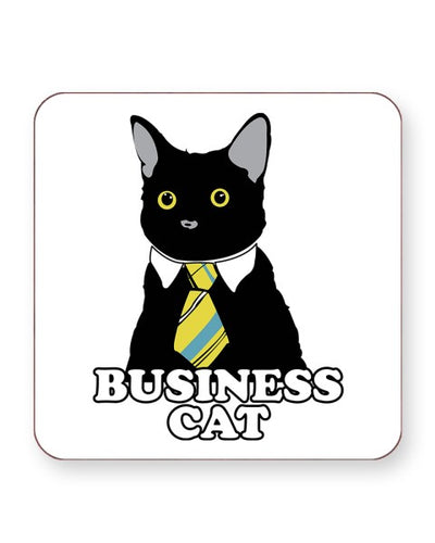 Business Cat Meme - Barware Home Kitchen Drinks Coasters