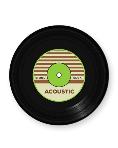 Vinyl Record Acoustic Music Genre - Barware Home Kitchen Drinks Coaster