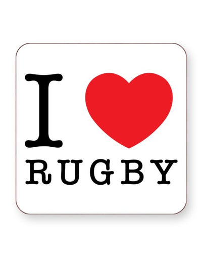 I Love Rugby - Barware Home Kitchen Drinks Coasters
