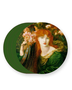 La Ghirlandata - Rossetti, Dante Gabriel - Barware Home Kitchen Drinks Coasters
