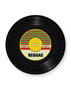 Vinyl Record Reggae Music Genre - Barware Home Kitchen Drinks Coasters