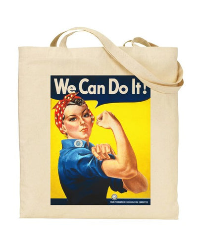 We Can Do It - World War 2 - J Howard Miller 1943 Canvas Shopper Tote Bag