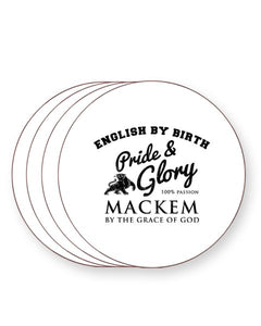 English by Birth Mackem By The Grace of God - Sunderland - Drinks Coasters