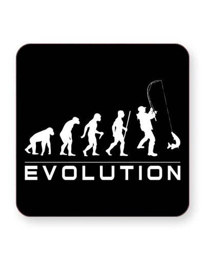 Evolution Of A Fisherman - Barware Home Kitchen Drinks Coasters