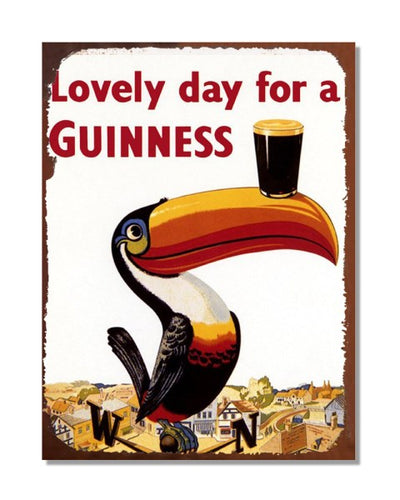 Lovely Day For a Guinness Vintage Bar Metal Wall Sign