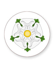 Load image into Gallery viewer, White Rose of York - Barware Home Kitchen Drinks Coasters
