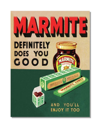 Marmite Definitely Does You Good Advert Vintage Bar Metal Wall Sign