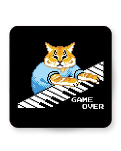 Keyboard Cat Meme - Barware Home Kitchen Drinks Coasters