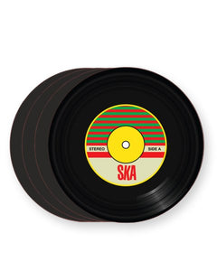 Vinyl Record Ska Music Genre - Barware Home Kitchen Drinks Coasters