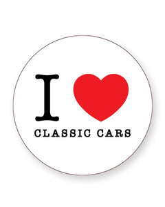 I Love Classic Cars - Barware Home Kitchen Drinks Coasters