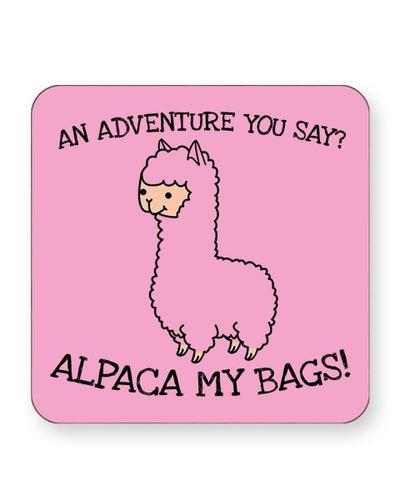An Adventure You Say Alpaca My Bags - Barware Home Kitchen Drinks Coasters