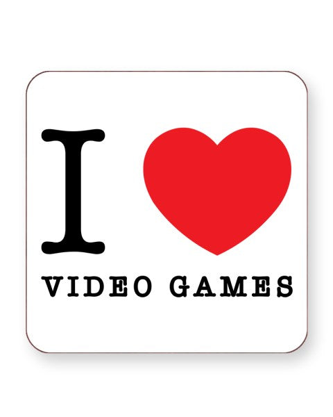 I Love Video Games - Video Gamer - Barware Home Kitchen Drinks Coasters