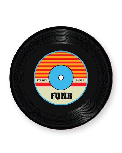 Vinyl Record Funk Music Genre - Barware Home Kitchen Drinks Coasters