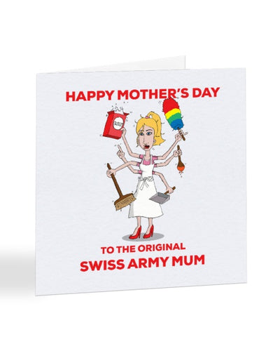 Swiss Army Mum - Mother's Day Greetings Card