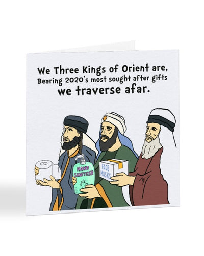 We Three Kings 2020 Gifts - Funny Joke - Christmas Card