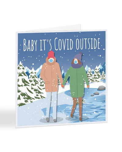 Baby It's Covid Outside - Funny 2020 Joke - Christmas Card