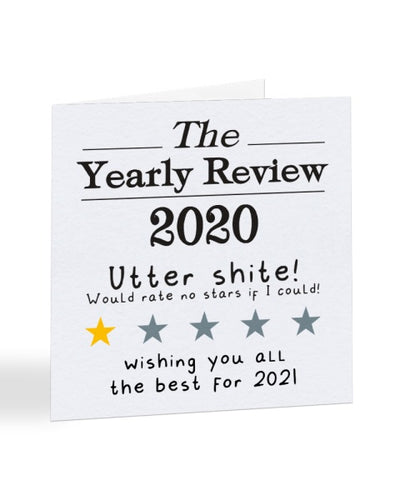 The Yearly Review 2020 - Funny Joke - Christmas Card