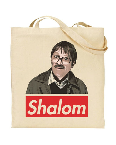 Jim Friday Night Dinner Shalom Jackie Canvas Shopper Tote Bag