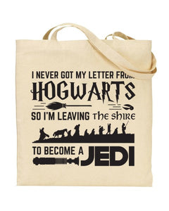I Never Got My Letter From Hogwarts Movie Mashup Canvas Shopper Tote Bag