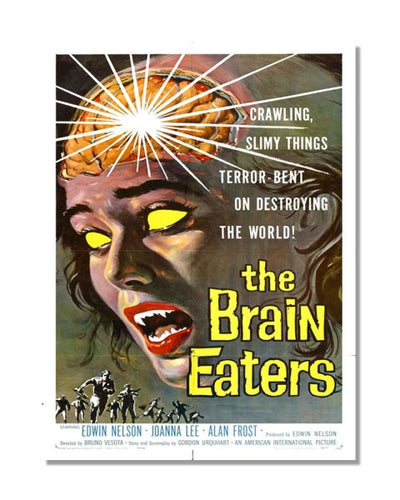 The Brain Eaters - Vintage Movie Poster Wall Sign
