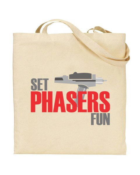 Set Phasers To Fun Tote - Canvas Shopper Tote Bag