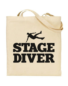 Stage Diver Canvas Shopper Tote Bag