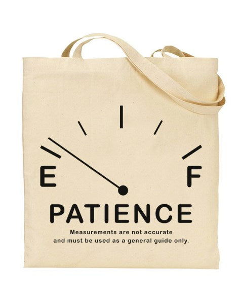 Patience Meter - Canvas Shopper Tote Bag