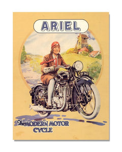 Ariel The Modern Motorcycle - Automotive Metal Garage Wall Sign