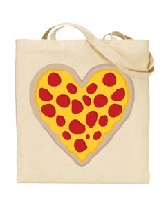 Pizza Heart - YORKSHIRE - Canvas Shopper Tote Bag