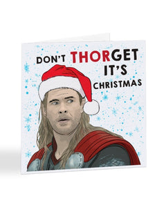 Don't THORget It's Christmas - Funny Thor Ragnarok - Superhero - Christmas Card