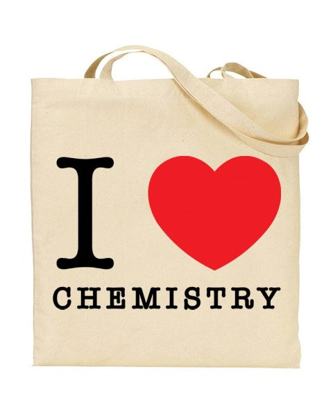 I Love (Heart) Chemistry Canvas Shopper Tote Bag