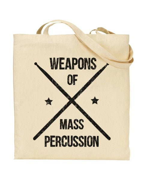 Weapons Of Mass Percussion Canvas Shopper Tote Bag