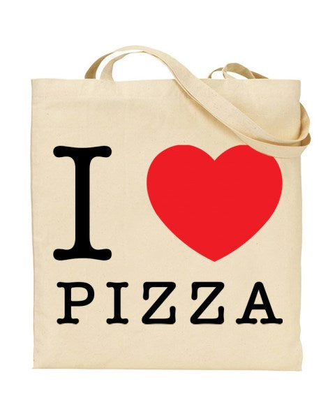 I Love (Heart) Pizza Canvas Shopper Tote Bag