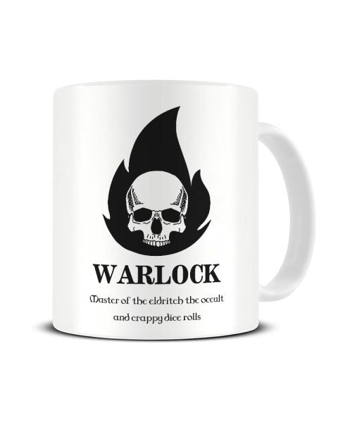 Warlock Dungeons And Dragons Character Funny Ceramic Mug