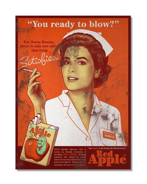 Red Apple, You Ready To Blow? - Vintage Advertising Poster Metal Wall Sign