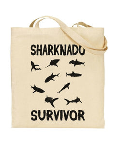 Sharknado Survivor - Canvas Shopper Tote Bag