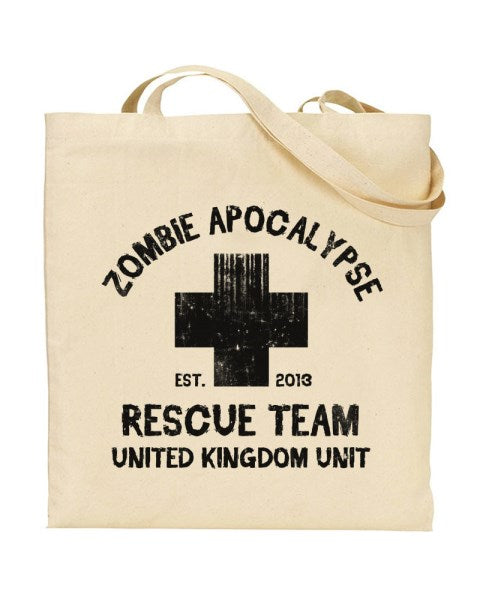 Zombie Apocalypse Rescue Team UK Unit - Canvas Shopper Tote Bag