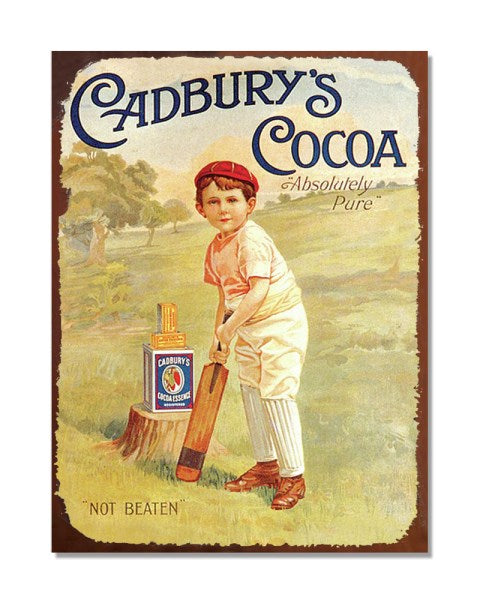 Cadbury's Cocoa - Vintage Advertising Poster Kitchen Metal Wall Sign