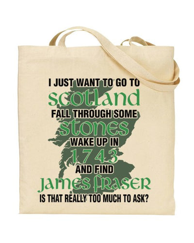 I Want To Wake Up In 1943 - Outlander Inspired  - Canvas Shopper Tote Bag