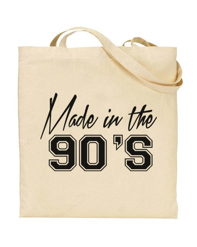 Made In The 90's Canvas Shopper Tote Bag