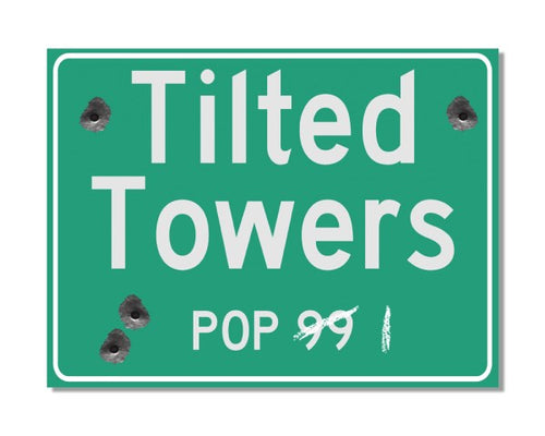 Tilted Towers - Fortnite Video Gaming Inspired Metal Wall Sign